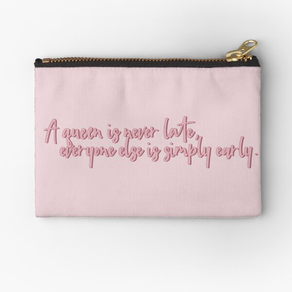 The Princess Diaries A Queen is never Late Zipper Pouch