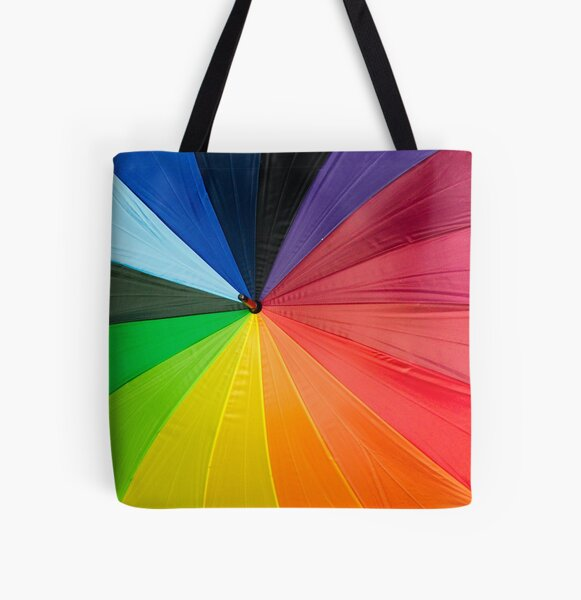 Rainbow Umbrella  All Over Print Tote Bag
