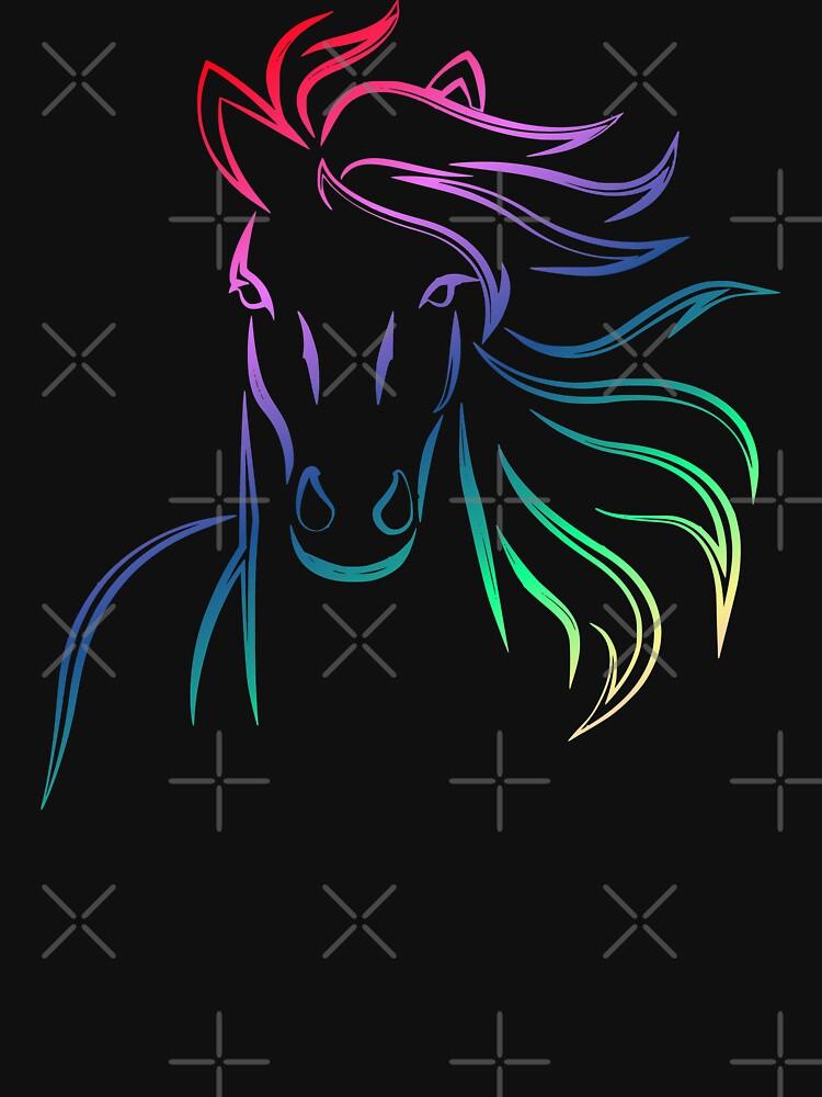 Fergus The Horse. Rainbow Fergus The Horse by KatieLuu
