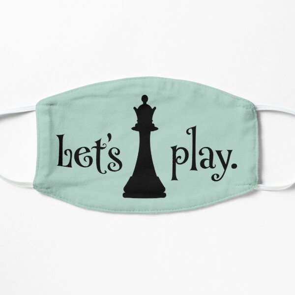 Let's Play, Queen Chess Piece for Chess Club Match Players Flat Mask