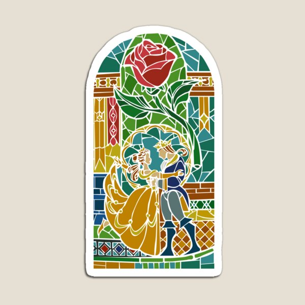 Beauty and The Beast - Stained Glass Magnet