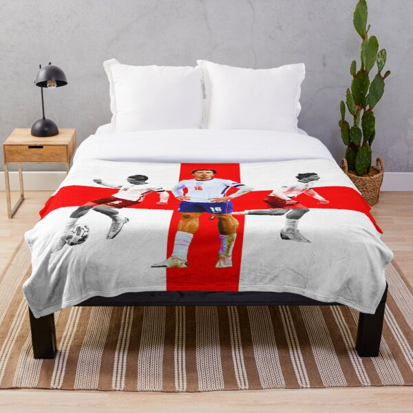 Jack Grealish England football club Aston Villa prints posters art flag artwork Throw Blanket