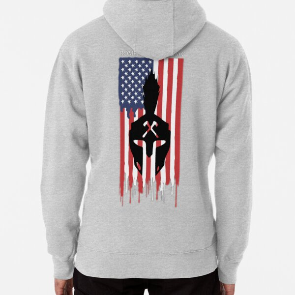 The Axe Shoppe | Rome Axe Throwing American Flag Pullover Hoodie