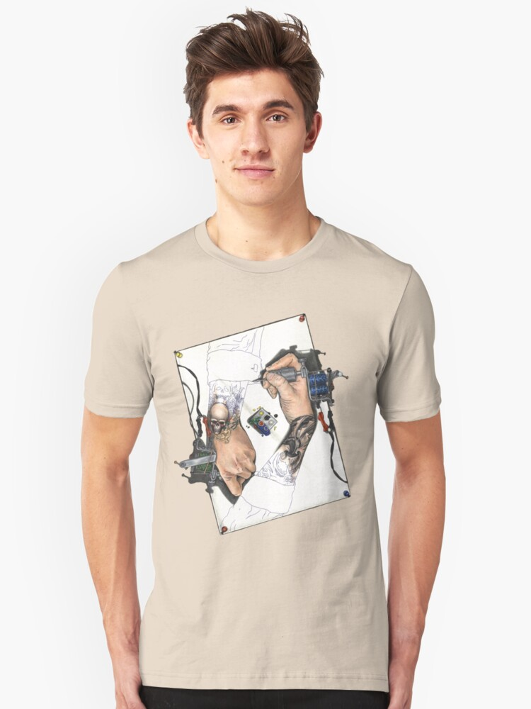 Drawing Hands Unisex T-Shirt Front