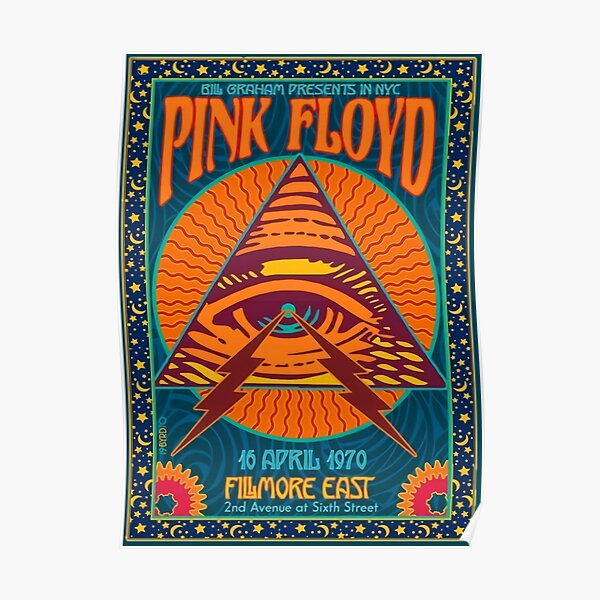 Pink Floyd Concert Authentic Poster