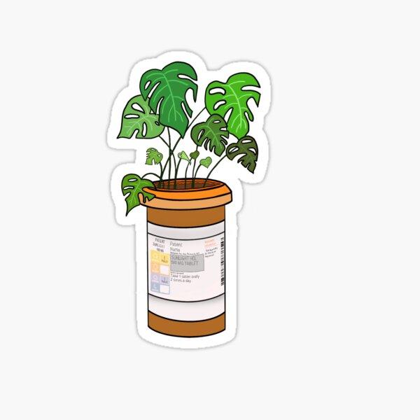 Pill Bottle Plant Sticker