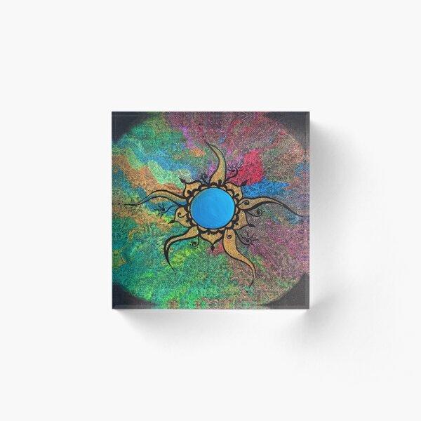 'Eternal Sun' Acrylic Block