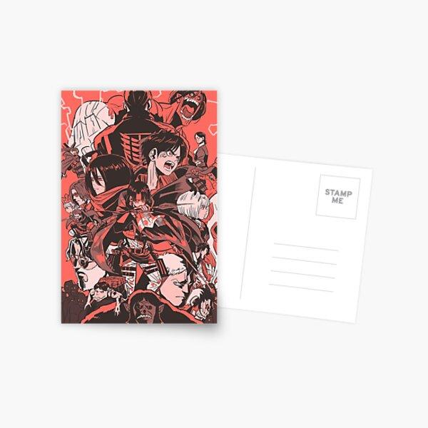 attaquer les titans Carte postale