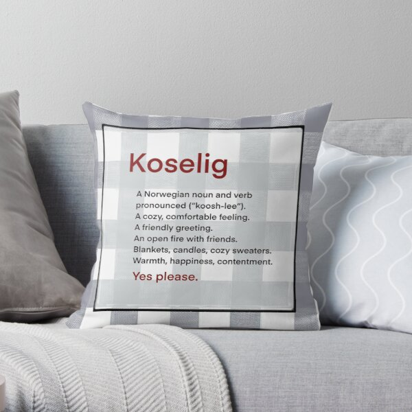 Koselig Means Cozy Definition - Momma Bear Canada Throw Pillow