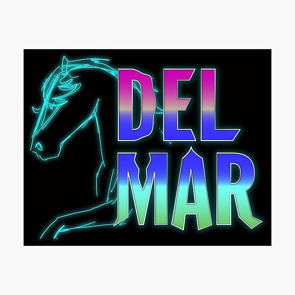 Del Mar, California 80's style  Photographic Print