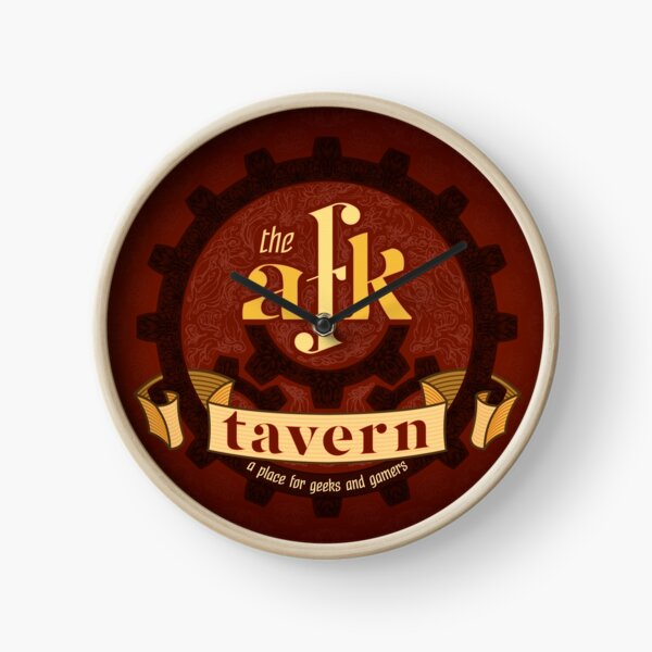 AFK Tavern Filigree Logo Clock
