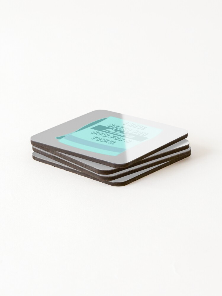 Alternate view of Thrice for a Towel Coasters (Set of 4)