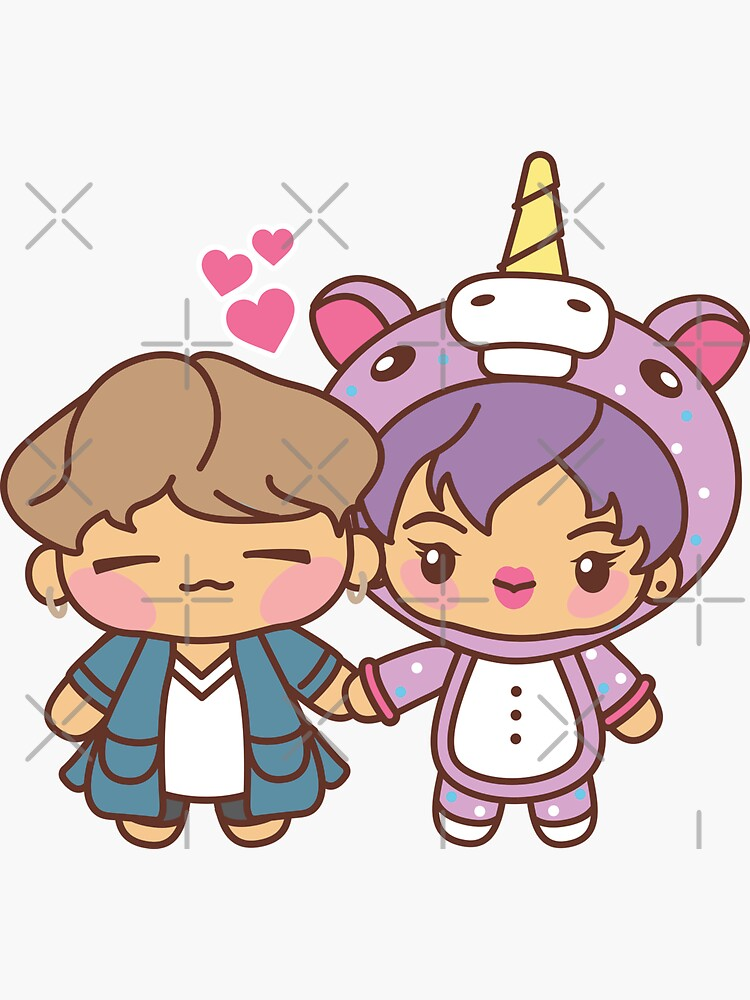 YoonJin Pajama Party - BTS Yoongi and Jin in PJ's ~BTS Pajama Party~ by MikaBees