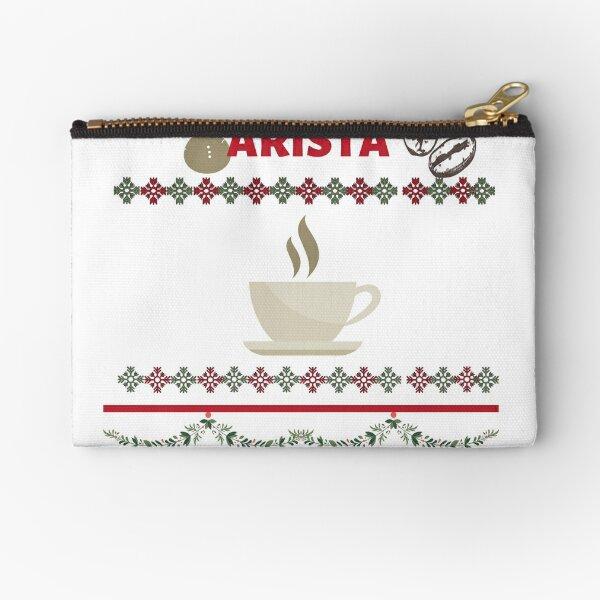 BARISTA CHRISTMAS T-SHIRT, BARISTA CHRISTMAS GIFT Zipper Pouch
