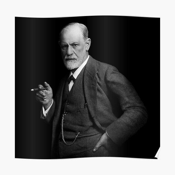 Sigmund Freud Rare Retouched Portrait ii Poster