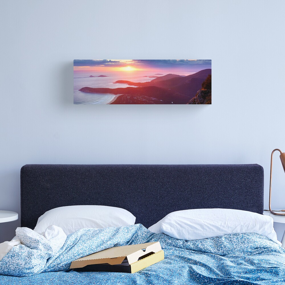 Sunset from Mt Oberon, Wilsons Promontory, Victoria Australia Canvas Print
