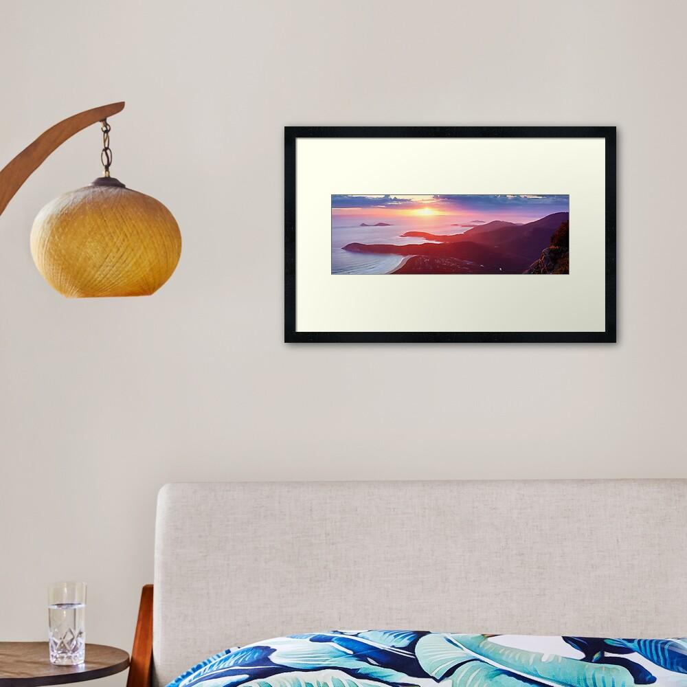 Sunset from Mt Oberon, Wilsons Promontory, Victoria Australia Framed Art Print