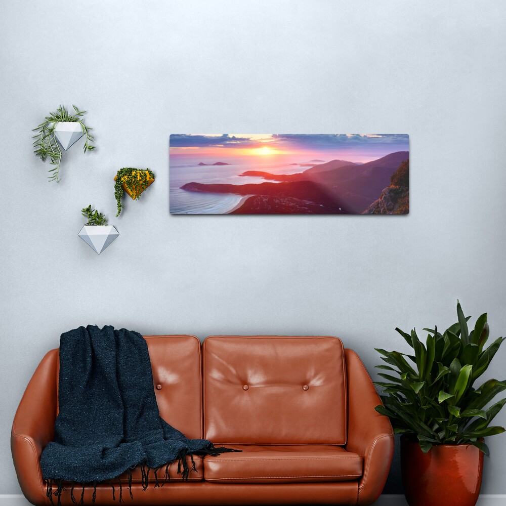 Sunset from Mt Oberon, Wilsons Promontory, Victoria Australia Metal Print