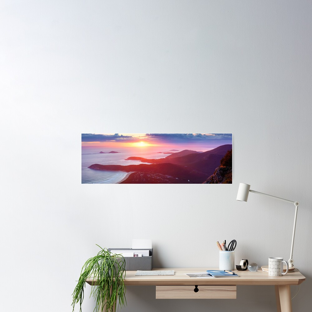 Sunset from Mt Oberon, Wilsons Promontory, Victoria Australia Poster
