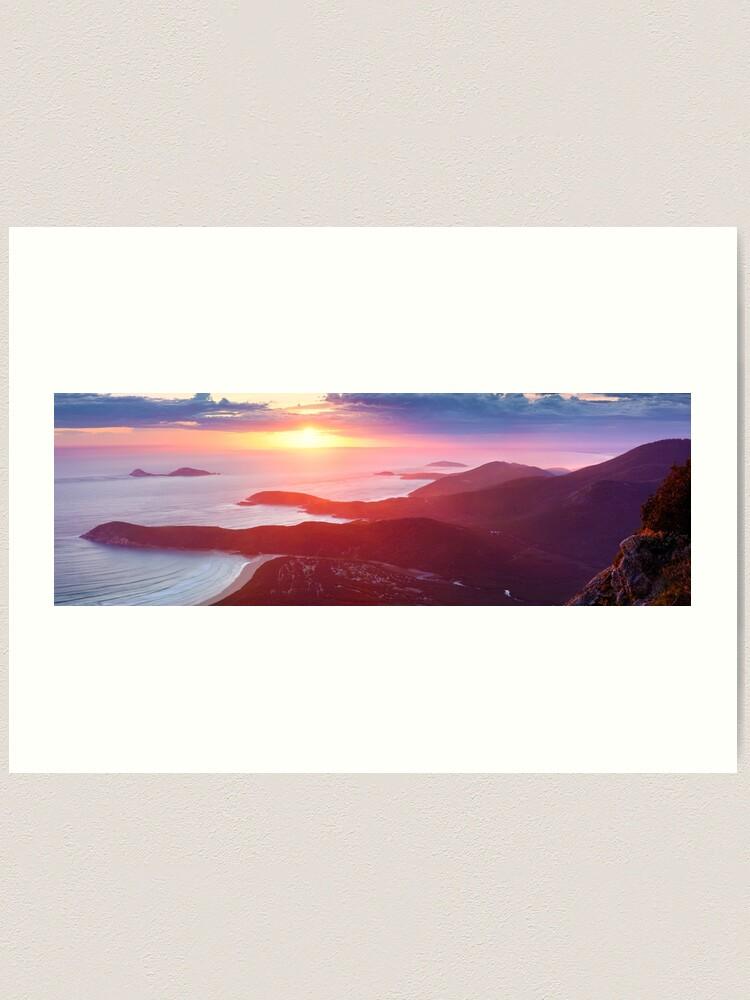 Alternate view of Sunset from Mt Oberon, Wilsons Promontory, Victoria Australia Art Print