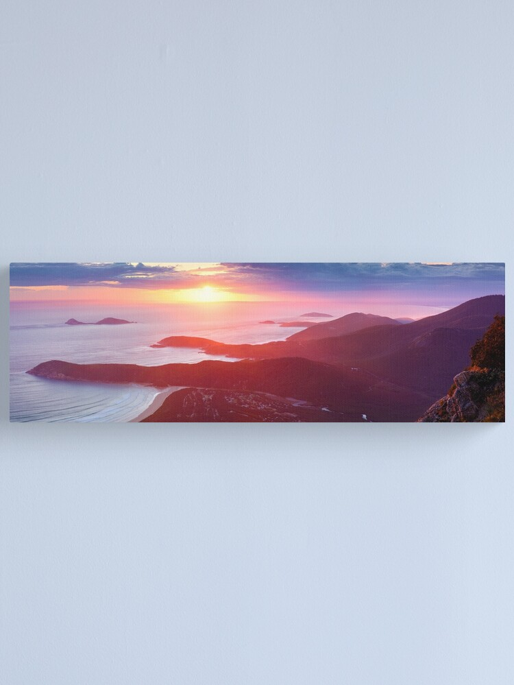 Alternate view of Sunset from Mt Oberon, Wilsons Promontory, Victoria Australia Canvas Print