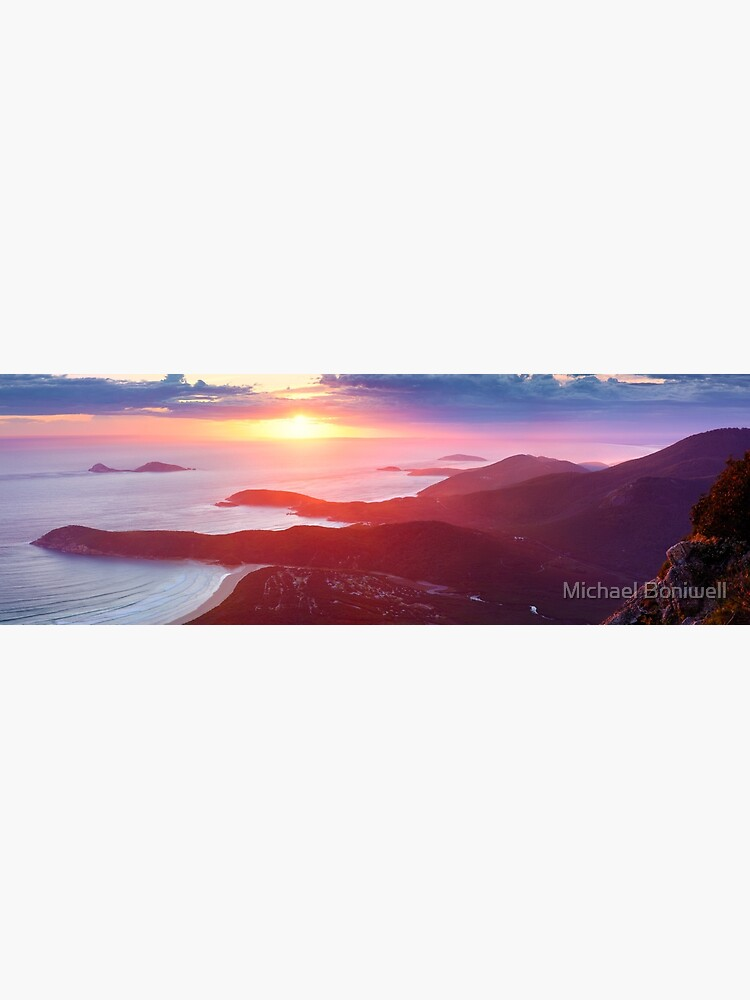 Sunset from Mt Oberon, Wilsons Promontory, Victoria Australia by Chockstone