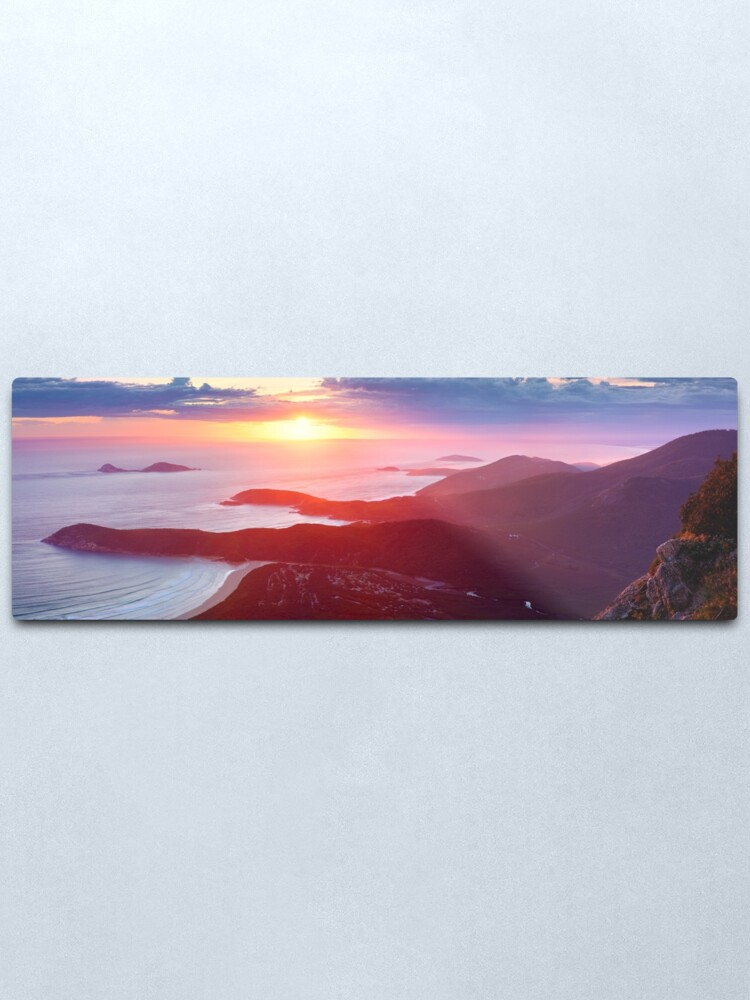 Alternate view of Sunset from Mt Oberon, Wilsons Promontory, Victoria Australia Metal Print