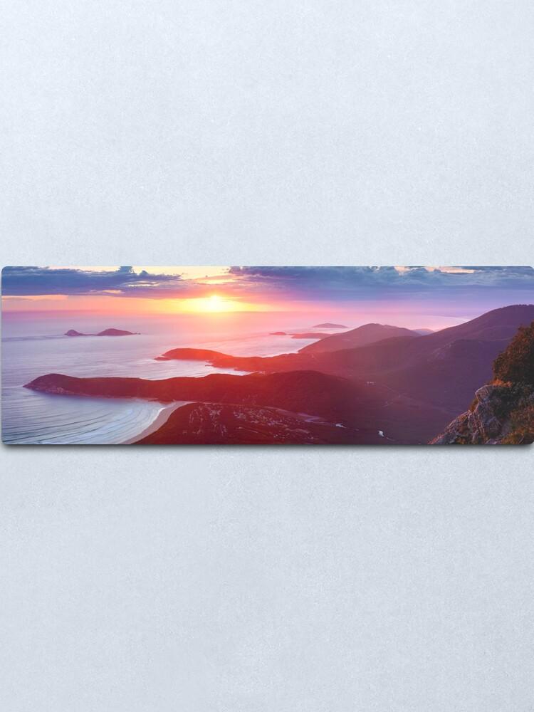 Alternate view of Sunset from Mt Oberon, Wilsons Promontory, Victoria Australia Metal Print