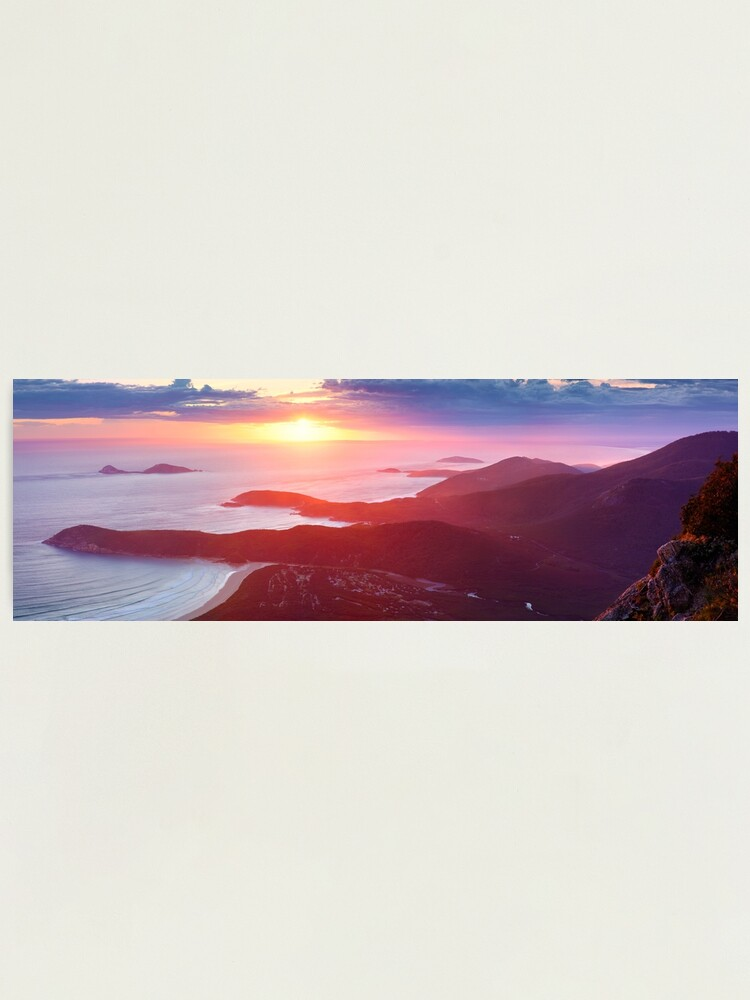 Alternate view of Sunset from Mt Oberon, Wilsons Promontory, Victoria Australia Photographic Print
