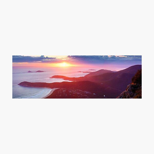 Sunset from Mt Oberon, Wilsons Promontory, Victoria Australia Photographic Print