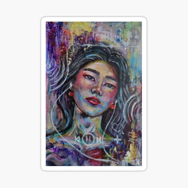 Vibrant,pop Abstract portrait Sticker