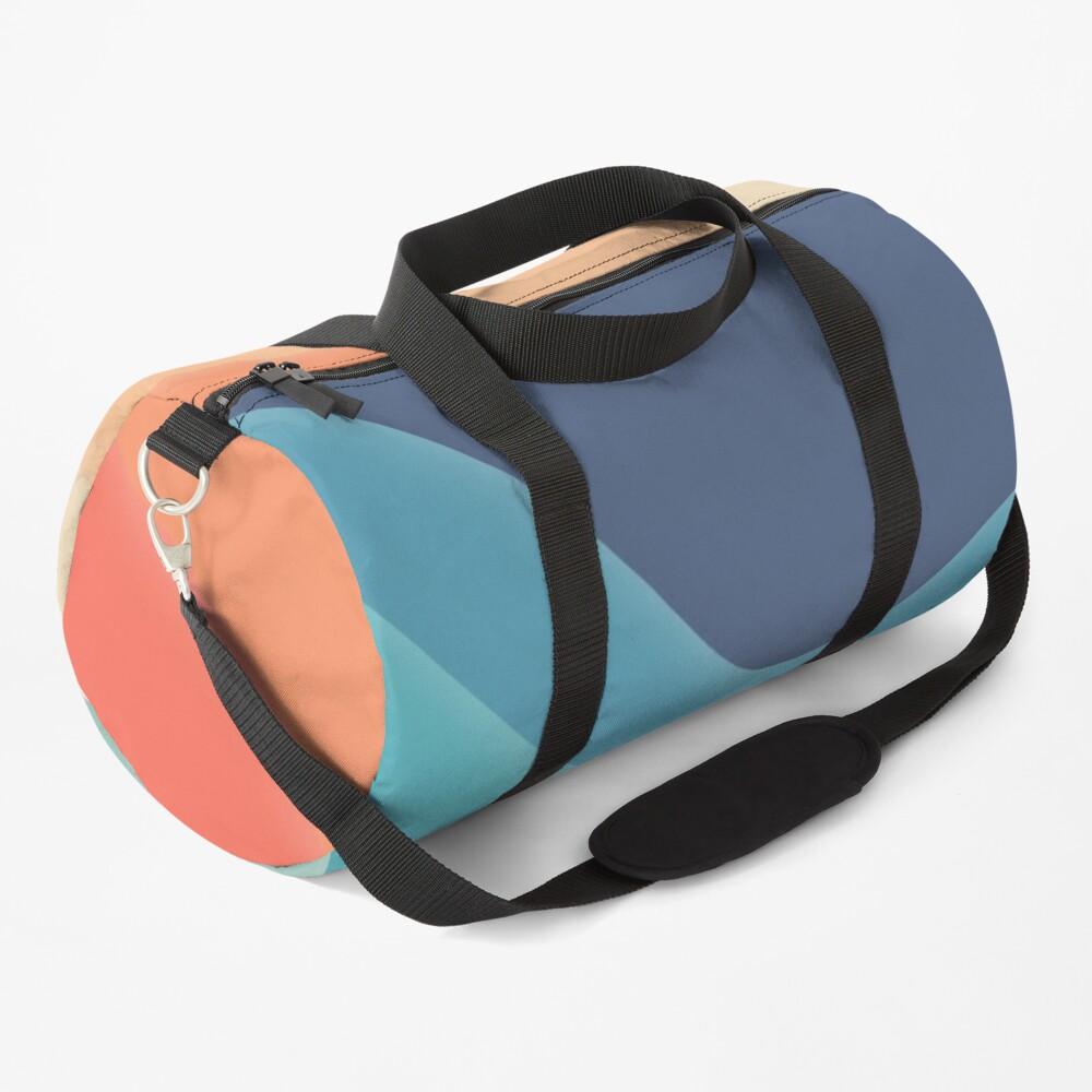 Retro color wave Duffle Bag