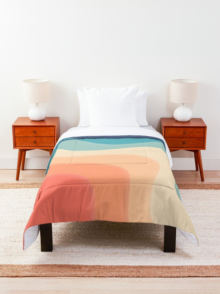 Alternate view of Retro color wave Comforter