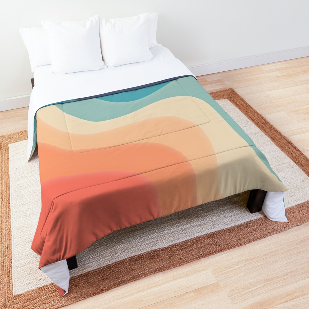 Retro color wave Comforter