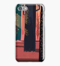 Flat Stamp Forest iPhone Case/Skin