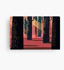 Flat Stamp Forest Canvas Print