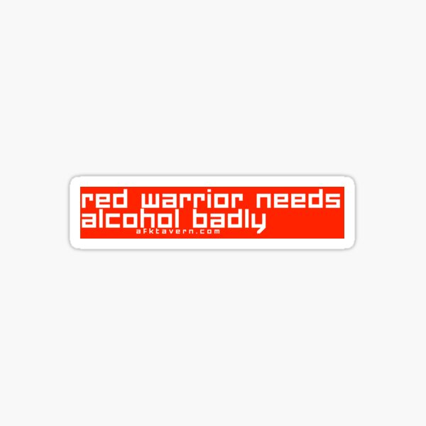 Red Warrior AFK Sticker