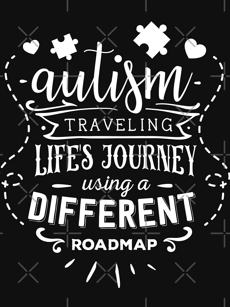 Autism Travel Life Using A Different Roadmap by NextLVLShirts