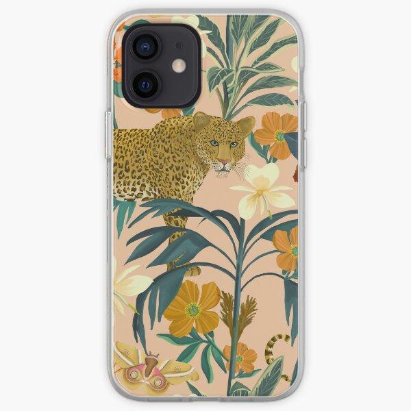 Leopard Print Orange and Blue iPhone Soft Case