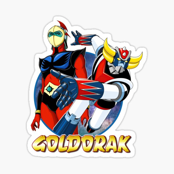Goldorak (Grendizer) avec Actarus (Duke Fleed) Sticker
