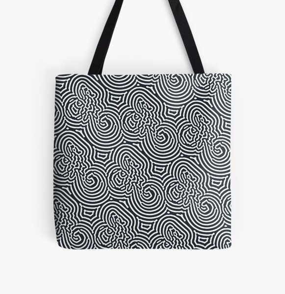 Abstract modern pattern Notes All Over Print Tote Bag