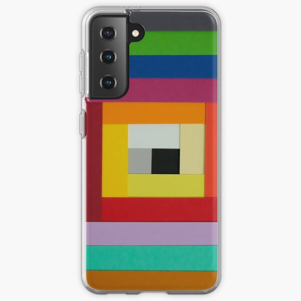 Square spiral of colors Samsung Galaxy Soft Case