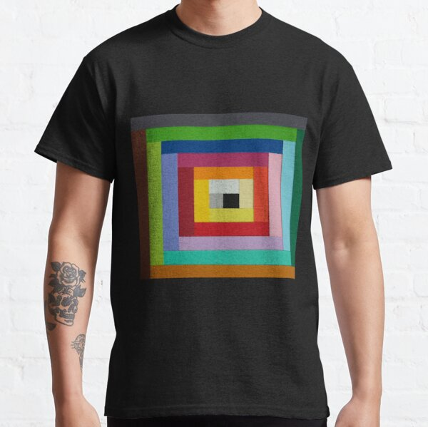 Square spiral of colors Classic T-Shirt
