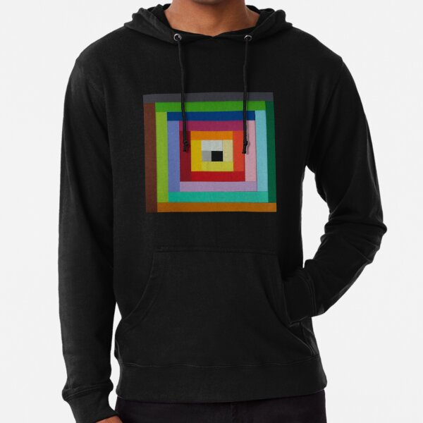 Square spiral of colors Lightweight Hoodie