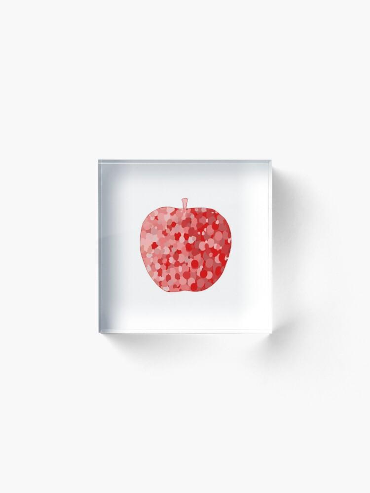 Alternate view of red apple digital drawing food illustration Acrylic Block
