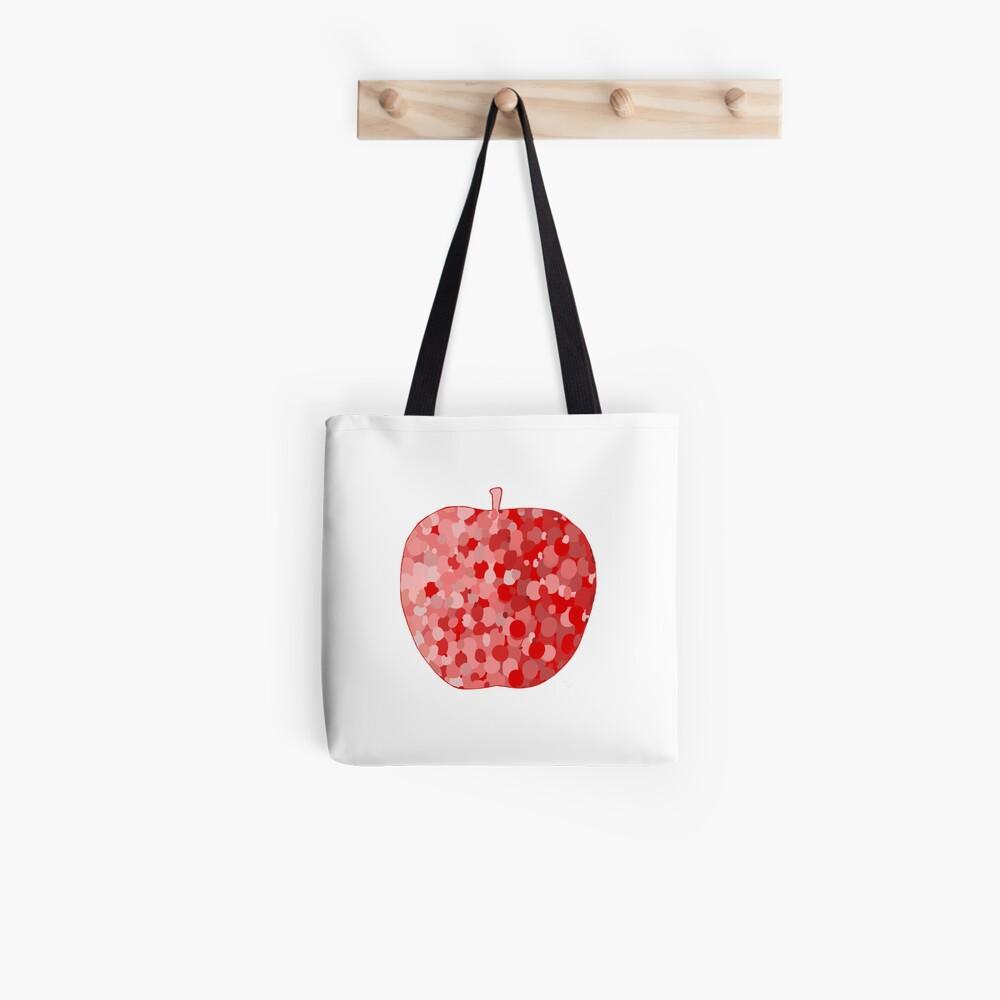 red apple digital drawing food illustration Tote Bag