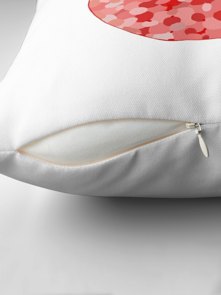 Alternate view of red apple digital drawing food illustration Throw Pillow