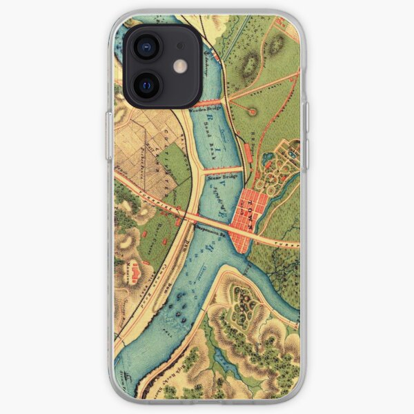 Topography Map  iPhone Soft Case