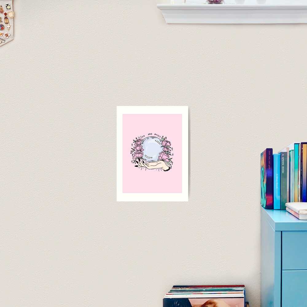 du bist magisch -pink- Kunstdruck
