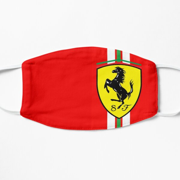 Diseño del logo de Ferrari F1 Mascarilla plana